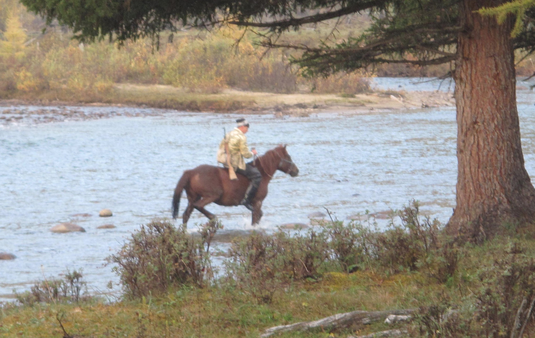 Tofalaria Karghaso con il suo cavallo - Russia Trekking